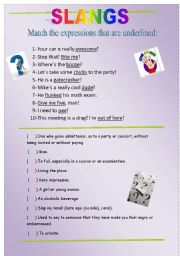 English Worksheet: SLANG