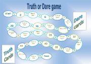 Truth or dare board game