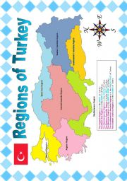 English Worksheet: REGIONS OF TURKEY (POSTER)