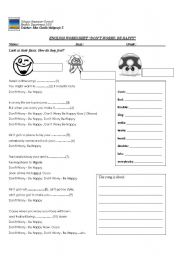 English Worksheets: don´t worry, be happy
