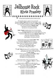 English Worksheets: Jailhouse Rock - Elvis Presley