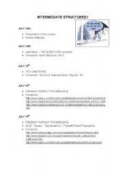 English worksheet: WEEK PLANNING