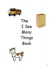 English Worksheets: I See  easy reader
