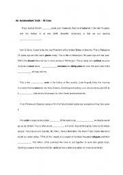 English Worksheet: An Inconvenient Truth - listening script