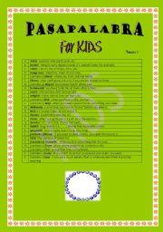 English Worksheets: pasapalabra