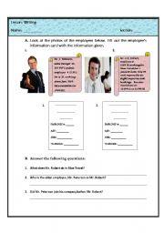 English Worksheets: Wrting