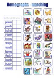 Homographs - matching