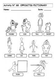 math worksheet : english teaching worksheets the opposites : Adjective Worksheets Kindergarten