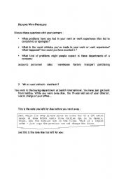 English Worksheets: Dealing with problems