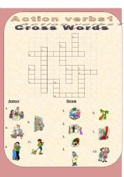 English Worksheets: House Action Verbs1