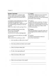 Worksheets Sonnet Worksheet english worksheets sonnet 18 worksheet 18