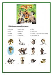 English Worksheet: Madagascar 2 - Movie worksheet