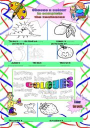 Colour by instructions +  word mosaic
