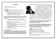 English Worksheets: on the film