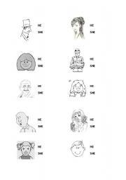 He/She - ESL worksheet by yunaalexis