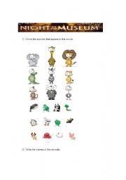 English Worksheet: A Night At the Museum