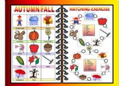 English Worksheets: SEASONS PICTIONARY AND MATCHING ALL-IN-ONE (FALL/AUTUMN) 2/4