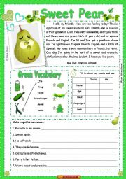 English Worksheets: Sweat Pear