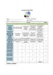 brochure rubric template - english teaching worksheets assessment rubric