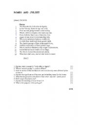 English worksheets: Romeo and Juliet: Prologue