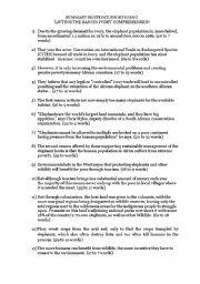 English Worksheets: Summary Practice: Sentence Brevity (GCE �O� Levels)