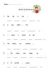 English teaching worksheets: Word order