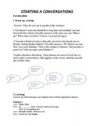 how to start speaking english