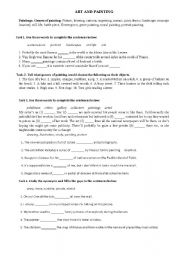 English Worksheets: Art and painting