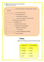 English Worksheets: Worksheet on the South African film Tsotsi (2 of 3)