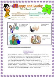 English Worksheets: Happy and Lucky