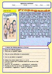 English Worksheets: propoganda