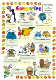 English Worksheets: COMPARING