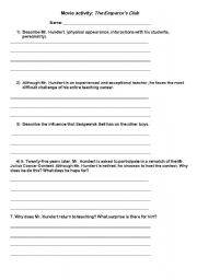 English Worksheets: Movie activity:  The Emperor�s club