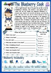 English Worksheets: The blueberry Cook