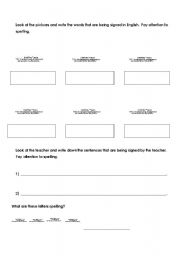 English Worksheets: American Signa Language practice