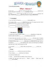 English worksheet: Tips for good behavior