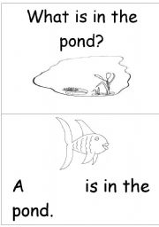 English Worksheets: What is in the pond?