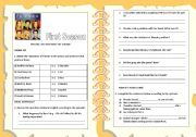 English Worksheet: ACTIVITY ABOUT THE SERIES - FRIENDS - The one with the thumb - FIRST SEASON