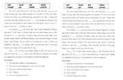 English Worksheets: The four young detectives