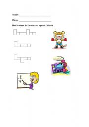 English Worksheets: T words