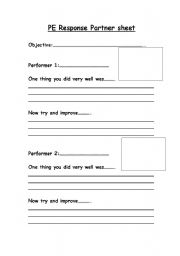 Worksheets Pe Worksheets english worksheets pe response partner sheet worksheet sheet