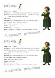 English Worksheets: Writing prompts: Fiona