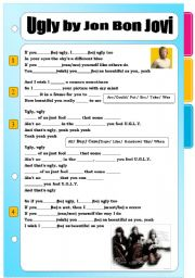 English Worksheet: Ugly by Jon Bon Jovi