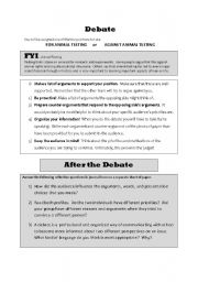 Worksheets Public Speaking Worksheets english teaching worksheets debate speakingwriting activity on animal testing
