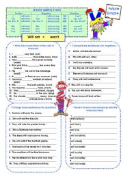 English Worksheet: Future Simple Tense