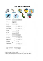 English Worksheets: Finfd the secret words