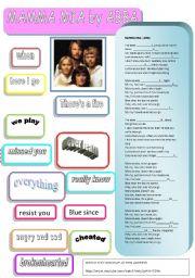 English Worksheet: SONG: MAMMA MIA BY ABBA