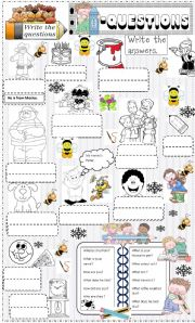 English Worksheets: questions and answers.