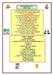 English Worksheet: Slang expressions part 3