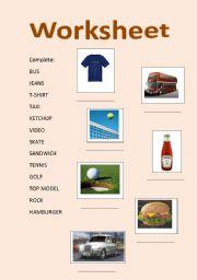English worksheet: English symbols